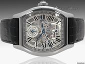Cartier Tortue Perpetual Calendar - 46mm x 51mm Tonneau 18K White Gold with Skeleton Dial - W1580048