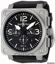 Bell & Ross Black Dial Automatic Chronograph Mens Watch BR0194-BL-ST watches