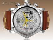 B.R.M SCR-48 GT Chronograph Ref. SCR-48-GT-BOU-AJ - 48mm Piston Shaped Stainless Steel Case - Silver Carbon Fiber Dial - Yellow Hands - BNIB - Brand New watches