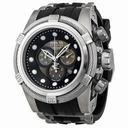 Men's Zeus Bolt Reserve Chronograph Stainless Steel Black Polyurethane Band Men's Watch 0826 watches