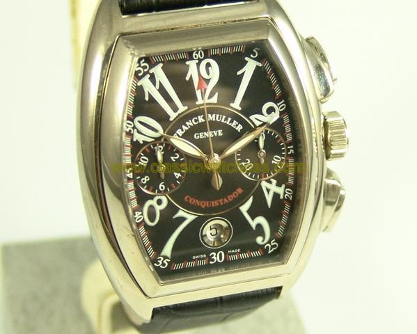 replica Franck Muller Conquistador 18 Krt. Wei gold Special Price WATCHES 1